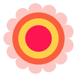 Hippie flower icon