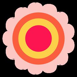 Icono de flor hippie