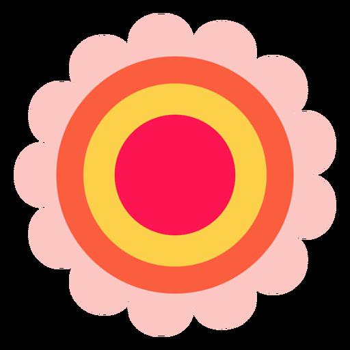 Hippie flower icon Transparent PNG