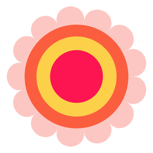 Icono de flor de hippie Transparent PNG