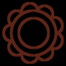 Elemento de trazo de flor hippie