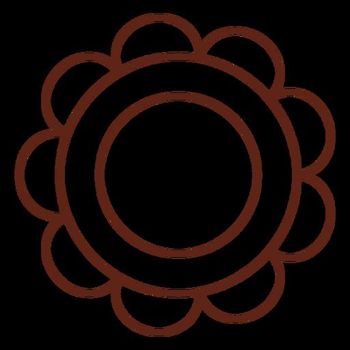 Elemento de trazo de flor hippie Transparent PNG