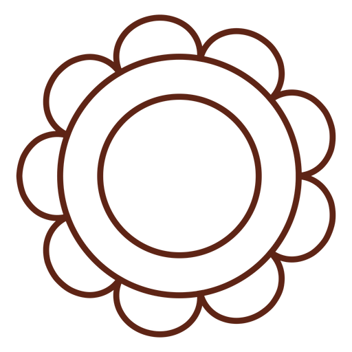 Hippie flower stroke element Transparent PNG