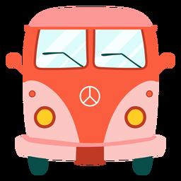 Elemento de furgoneta hippie