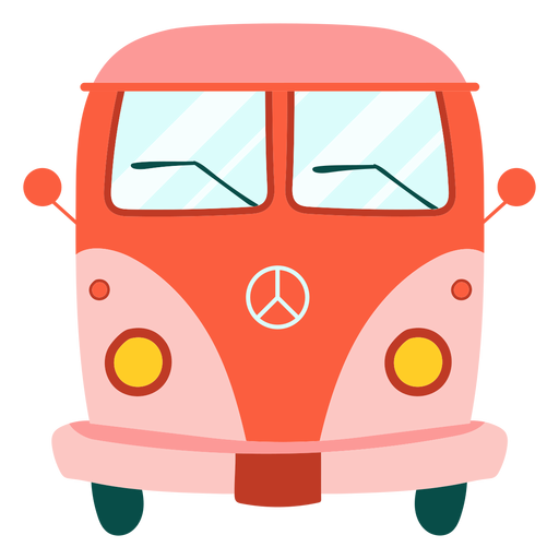 Hippie van element Transparent PNG