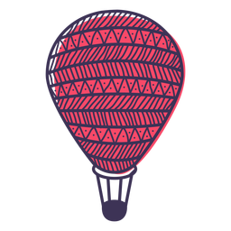 Doodle de balão de ar quente