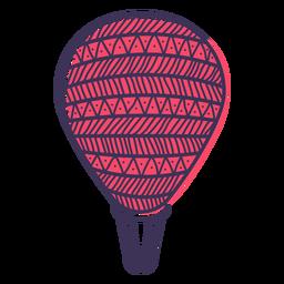 Doodle de globo de aire caliente