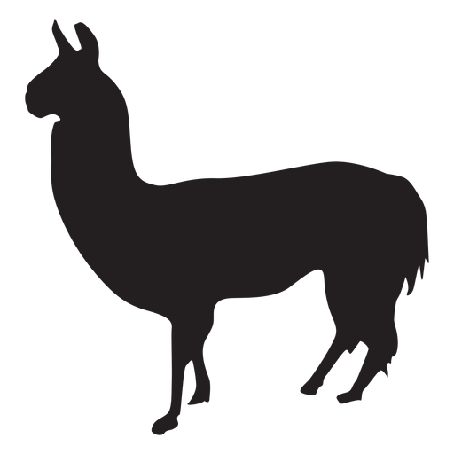 Isolated llama silhouette Transparent PNG