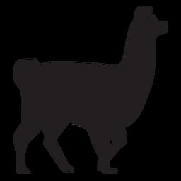 Llama aislada caminando silueta