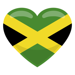 Bandeira do coração de Jamaica