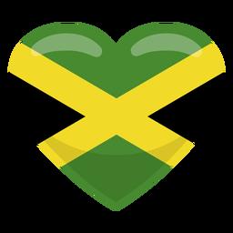 Bandera del corazón de jamaica