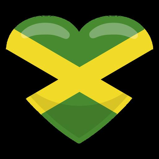Bandera del corazón de jamaica Transparent PNG
