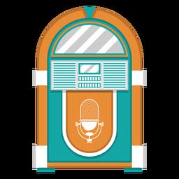 Ilustração de máquina de jukebox
