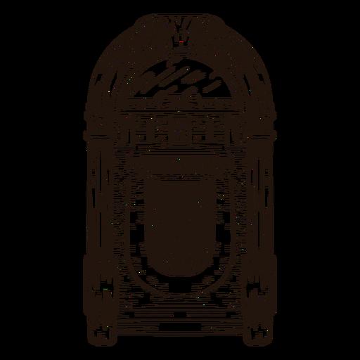 Esbozo de Jukebox Transparent PNG