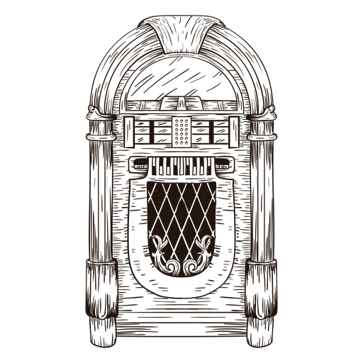 Jukebox sketch Transparent PNG