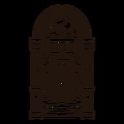 Jukebox-Skizzenillustration