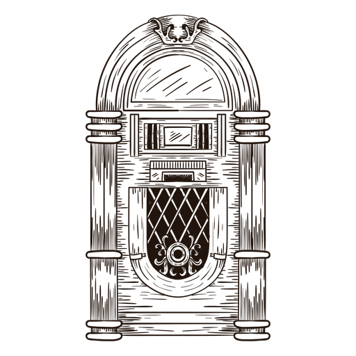 Ilustración de boceto de Jukebox Transparent PNG