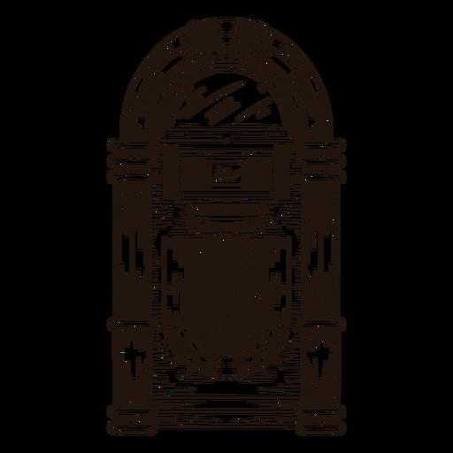 Jukebox sketch illustration Transparent PNG