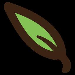 Doodle colorido de folhas