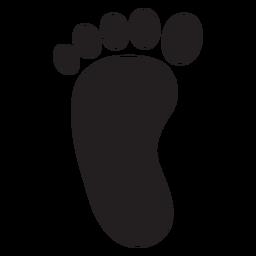 Silhueta da pegada do pé esquerdo