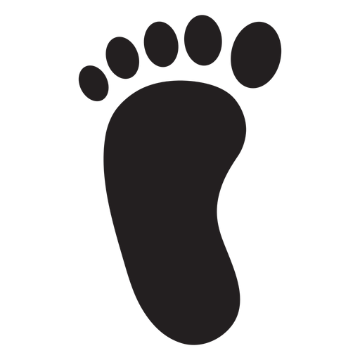 Left foot footprint silhouette Transparent PNG