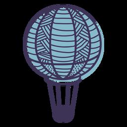 Balão de ar quente padrão de linha