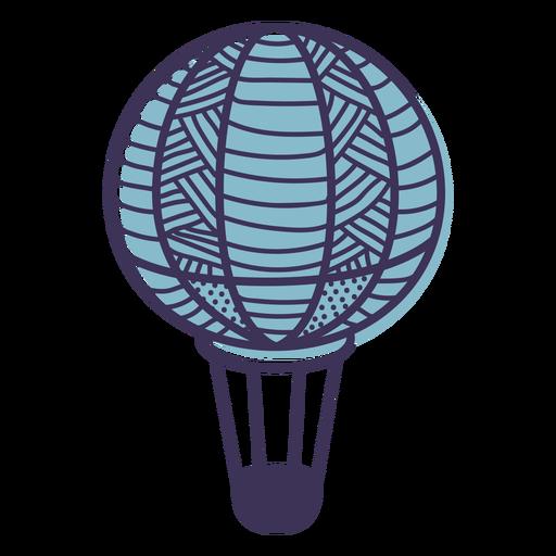 Line pattern hot air balloon Transparent PNG