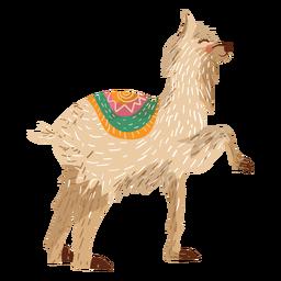 Ilustração animal de lhama