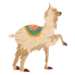 Llama animal ilustración