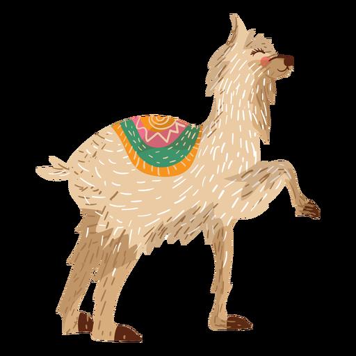 Ilustração animal de lhama Transparent PNG