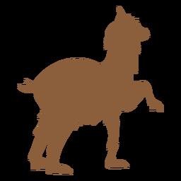 Silhueta de animais de lama