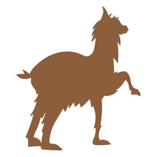 Llama animal silhouette Transparent PNG