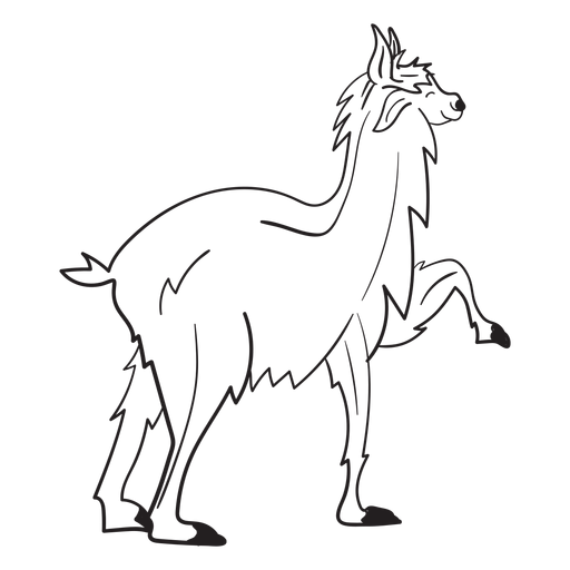 Llama animal stroke Transparent PNG