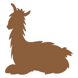 Lama liegend Silhouette