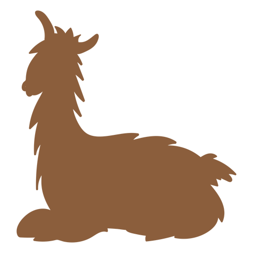 Llama lying silhouette Transparent PNG