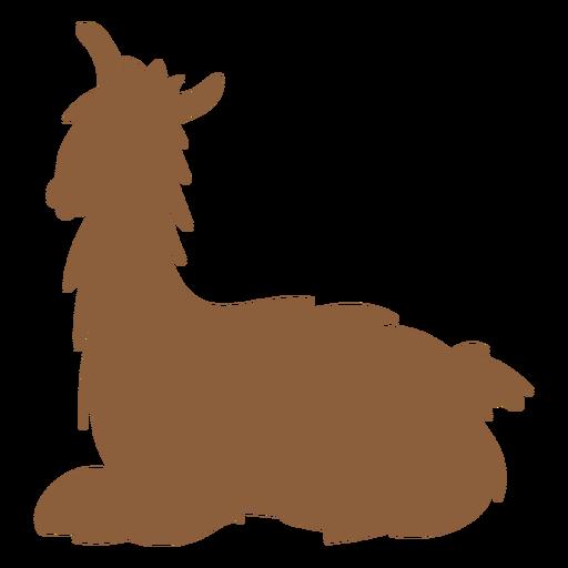 Llama tumbada silueta Transparent PNG