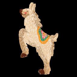 Lama na ilustração de pernas traseiras