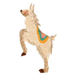 Llama on hind legs illustration