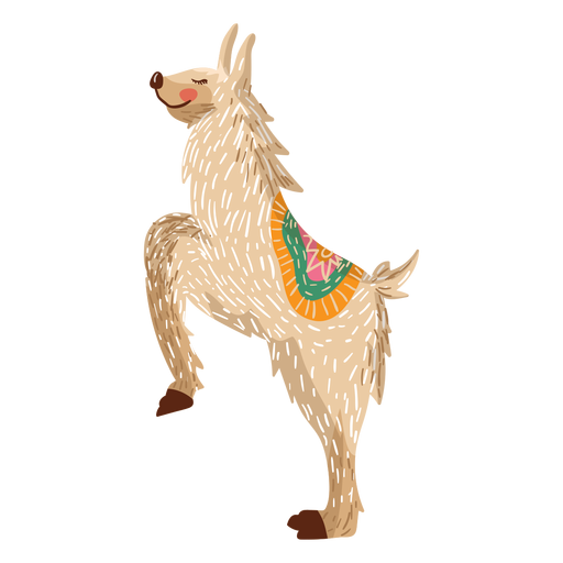 Llama en la ilustración de las patas traseras