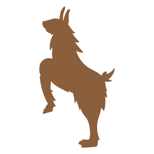 Lama na silhueta de patas Transparent PNG