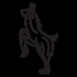 Llama on hind legs stroke