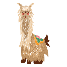 Llama sitting illustration