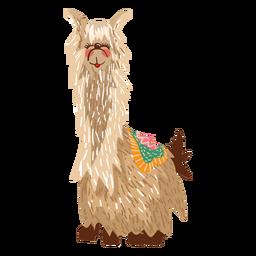 Llama sitting illustration