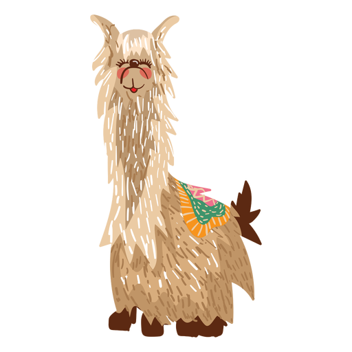 Llama sitting illustration Transparent PNG
