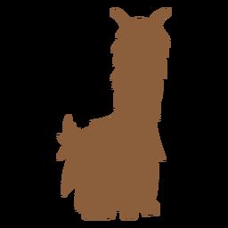 Llama sentado silhueta