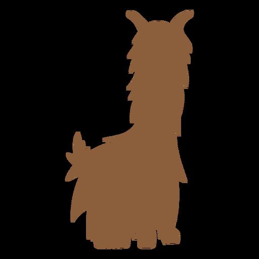 Llama sentada silueta Transparent PNG