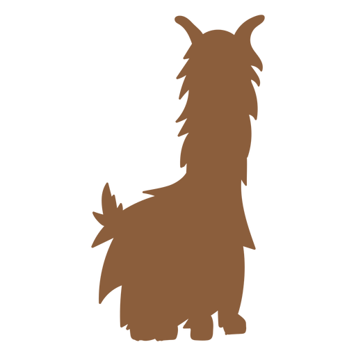 Llama sitting silhouette Transparent PNG