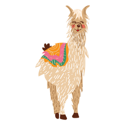 Lama stehend Abbildung