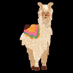 Llama standing illustration