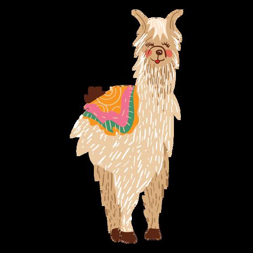 Lama stehend Abbildung Transparent PNG
